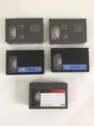 Lote com 5 Fitas VHS-C (Mini VHS) TDK e BASF
