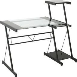 Mesa de Vidro Escritório Computador (Extra)