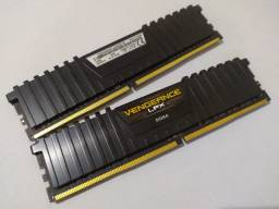 2 Memórias Corsair Vengeance LPX, 4GB, 2400MHz, DDR4, Preto