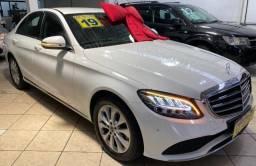 Mercedes Benz C 180 2019 1.6 Gasolina Único Dono Branca Estudo Troca e Financio