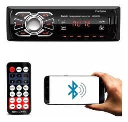 Rádio Bluetooth Aparelho De Som Carro Automotivo Pendrive Sd Rádio