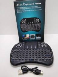 Mini Teclado Controle Sem Fio Com Touch Para Smart Tv , Pc
