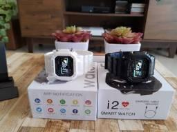 Relógio smartwatch retrô I2 X12 com funções de monitoramento barato