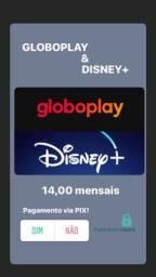 CONTAS Disney e GLOBOPLAY 14R$