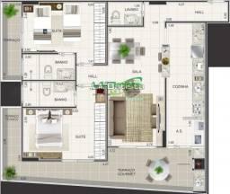 Apartamento à venda com 2 dormitórios em Boqueirão, Praia grande cod:918