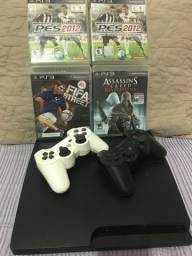 Título do anúncio: PS3 destravado com jogos físicos e digitais