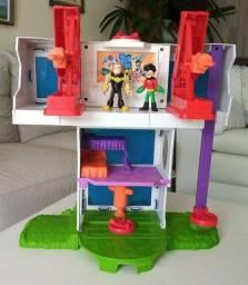 Imaginext Teen Titans Go Torre Dos Jovens Titãs Mattel .