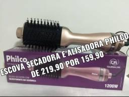 ESCOVA SECADORA E ALISADORA PHILCO 159,90