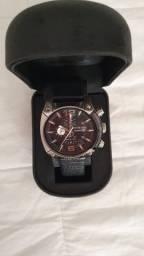 Título do anúncio: relógio diesel masculino em couro preto