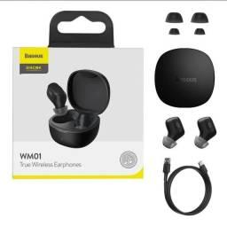 Fone sem fio Baseus WM01 - Bluetooth - Novo - Original