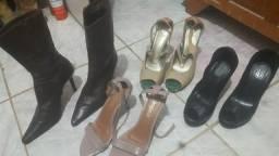 Vários calçado bota ,três saltos altos dois tenis