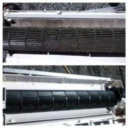 Serviços de manutenção limpeza e instalação  de ar condicionado