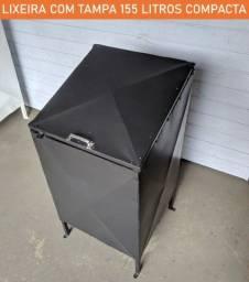 Lixeira com tampa compacta 155 litros - fazemos entrega e instalação