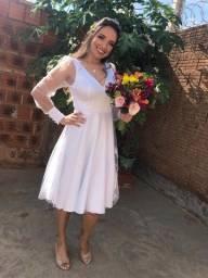 Vendo Vestido Branco de Alfaiataria