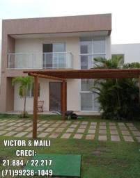 ( Imóvel Novo ) - Buraquinho - Casa 4/4, varanda, piscina, 2 vagas, Condomínio Fechado