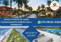 Reserva Sauípe, Lote com 450m² entre a Lagoa e o Mar no Complexo Sauípe