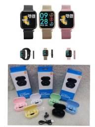 Promoção Smartwatch P80 + Airdorts