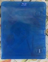 Estojo capa amaray para Blu-ray e Games 40 unidades Azul Translúcido