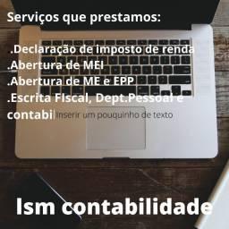 Serviços contabeis em geral(Declaração de imposto,abertura de Mei,ME e EPP)