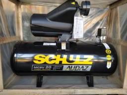 Compressor de Ar MSCV 20/200 175 Libras 200 Litros 220/380V Schulz