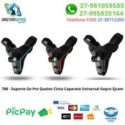 788 - Promoção - Suporte Go Pro Queixo Cinta Capacete Universal Gopro Sjcam