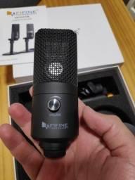 Microfone usb condensador Fifine K670 novo, somente testado!