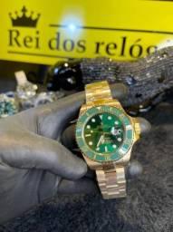 Rolex submariner banhado a ouro 18k