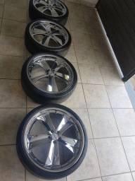 """Rodas 20"""" Presenza Wheels 5x100 com Pneus"""