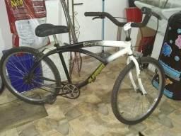 Bicicleta caiçara preto e branco alfameq
