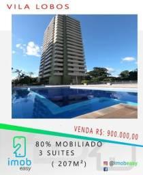 Vila Lobos 3 Suites; 80% Mobiliado; Andar Alto