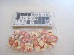 Kit Peças Jogo De Bingo 48 Cartelas E 90 Pedras
