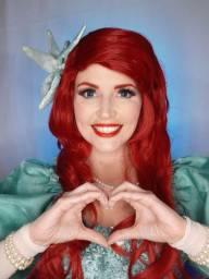 Festa - A pequena sereia Ariel personagem vivo