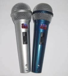 Microfone dinâmico profissional uni-direccional kit com 2 microfones