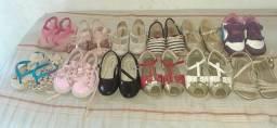 Lote de sapatinhos tamanho 21 ao 23, são 12 pares no total