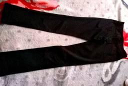 Calça jeans preta skyn cintura baixa
