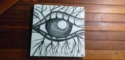 """Pintura """" o olho que têm raiz """""""