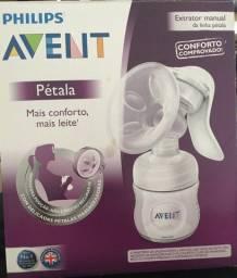 Extrator de leite Avent Philips + mamadeira pétala