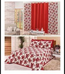 Kit cobre leito com cortina para sua cama