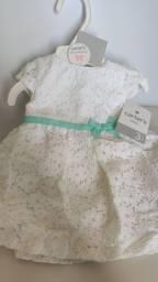 Vestido de Renda da Carters Branco