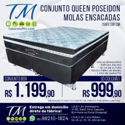 Promoção! Conj. Base + Colchão Casal Queen 30CM Molas Ensacadas ! 10X Sem Juros