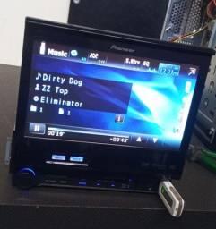 Dvd Pioneer Avh-p5280bt Com Tela 7 , Usb, Aux E Bluetooth