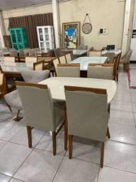 Mesa 4 lugares completa madeira e pintura laka