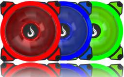 Cooler FAN Rise mode 120mm ring led Verde/Vermelho/azul