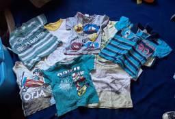 Lote de camiseta e blusa de frio 14 peças