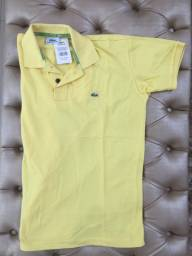 Camisa polo lacoste amarela