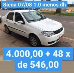 Siena 07/08 1.0 menos DH 4.000,00 mais 48x de 546,00