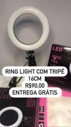 Ring light com tripé entrega grátis