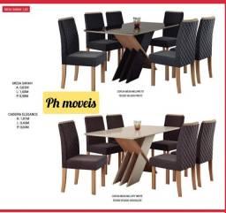 Mesa sarah com 6 cadeiras * *