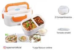 Marmita Elétrica Divisórias Portátil Tomada Lunch Box
