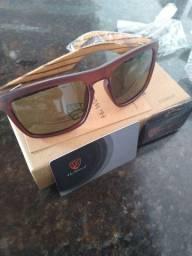 Óculos HU Wood lentes polarizado Hastes de madeira